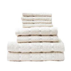 8 Piece Towel Bale Cream Egyptian Cotton