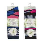 Ladies Bamboo Striped Socks