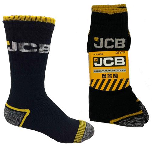 Official JCB Essential Work Socks