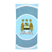 Manchester City Beach Towel Bullseye