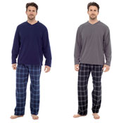 Mens Fleece Top Pyjamas