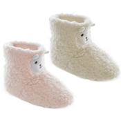 Toddler Coral Fleece Lamb Bootee Slipper