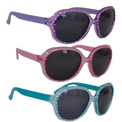 Girls Polka Dot Frame Design Sunglasses