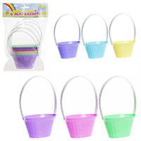 6 Piece Mini Pastel Springtime Baskets