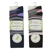 TopSock Ladies Bamboo Striped Socks