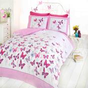 Flutter Pink Duvet Set