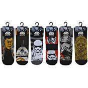 Mens Assorted Star Wars Design Socks