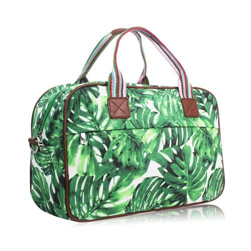 Hawaiian Leaf Weekend Bag Green