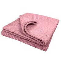 Bear & Panda Single Waffle Blanket Pink