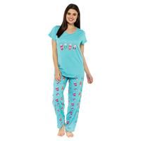 Ladies Coffee Print Pyjama Set