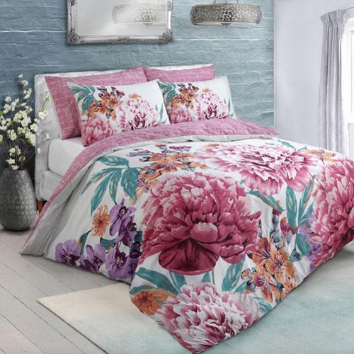 Large Floral Bloom Bright Duvet Set