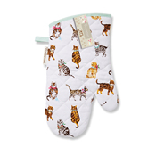 Cats on Parade Gauntlet Oven Glove