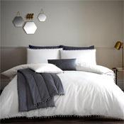 Pom Pom White Luxury Duvet Set