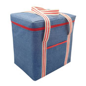 Jumbo Insulated Cooler Bag Denim Stripe