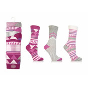 Jennifer Anderton Ankle Socks Mixed Designs Pinks