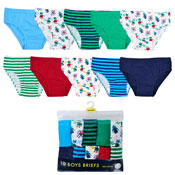 Boys Novelty Design Cotton Briefs 10 Pack