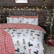 Christmas Dogs Duvet Set