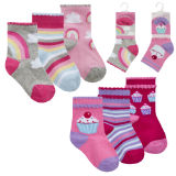 Baby Girls 3 Pack Rainbow And Cupcake Socks