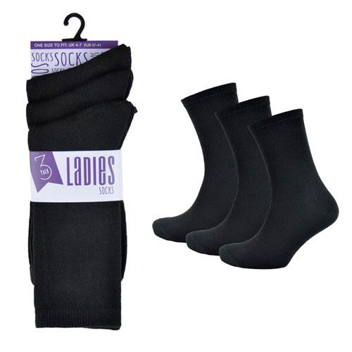 Ladies 3 Pack Ankle Socks