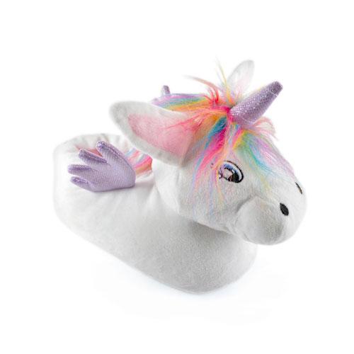 Ladies Unicorn Novelty Soft Fleece Slippers