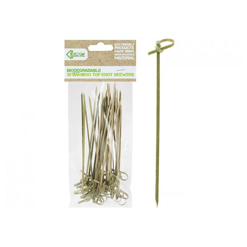 Eco Top Knot Bamboo Skewers