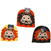 Kids Lion Face Beanie Hat