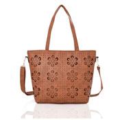 Ladies Lasercut Tote Bag Tan