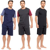 Mens Two Tone T-Shirt And Jersey Shorts Set