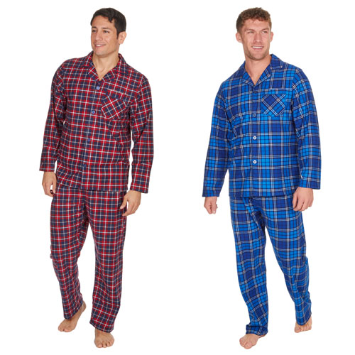 Mens Checkered Long Pyjama Set