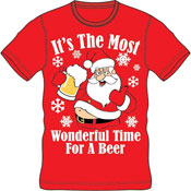 Christmas T-Shirt Red Beer