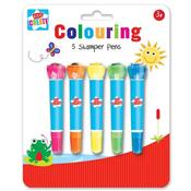 5 Coloured Stamper Pens