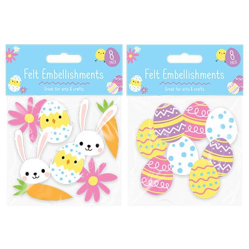 Easter Felt Embellishments 8 Pack