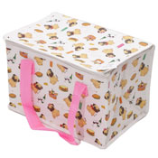 Woven Lunch Box/Cool Bag Pugs Print