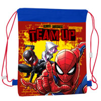 Official Spiderman Team Up Pull String Bag
