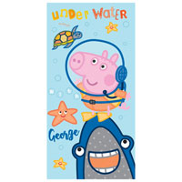 Official Peppa Pig George Under Water Beach Towel