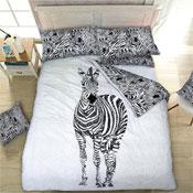 Zebra Reversible Duvet Set