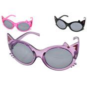 Girls Cat Shape Plastic Sunglasses
