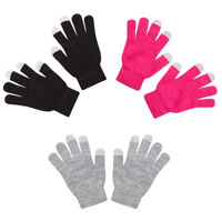 Ladies Assorted Touchscreen Magic Gloves