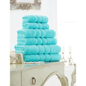 Supreme Cotton Hand Towels Aqua
