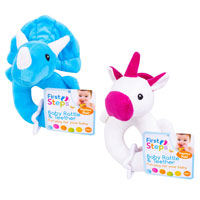 Plush Baby Rattle With Teether