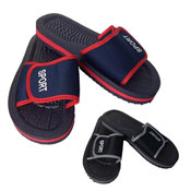 Mens Pool Side Flip Flops with Velcro Strap