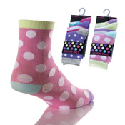 Girls Fancy Socks Spots/Hearts