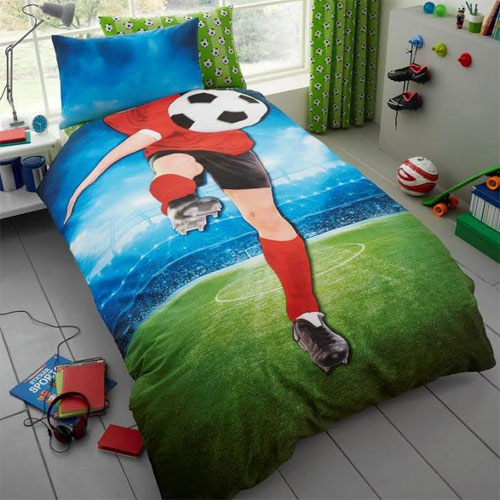 Childrens Football Panel Duvet Set