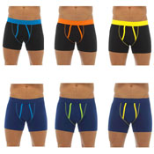 Mens Coloured Piping Boxer Shorts 3 Pack