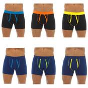 Mens Coloured Piping Boxer Shorts 3 Pack