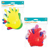 Large Foam Crown & Hands Craft Shapes