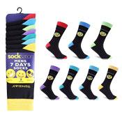 Socksation Mens Weekdays Emoticon Socks