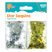 Metallic Star Sequins
