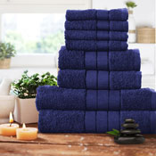 Luxurious 8 Piece Towel Bale Set Navy