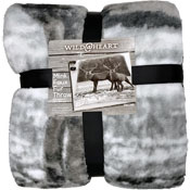 Mink Faux Fur Throw Stag